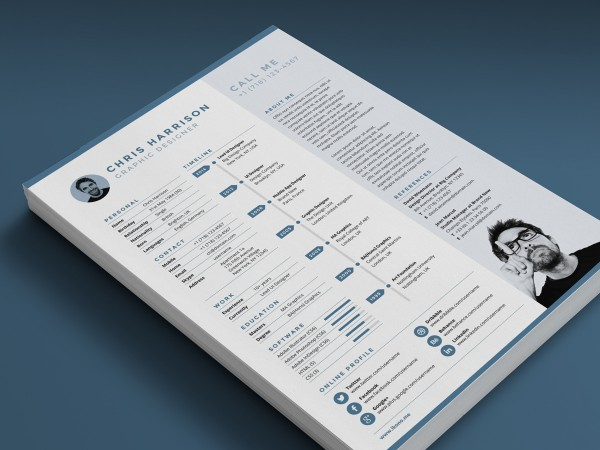 Free Resume template by www.Ikono.me