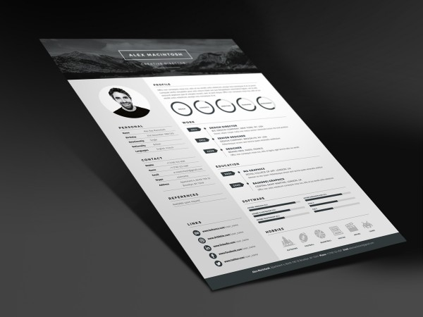 Mono Resume Template by www.Ikono.me