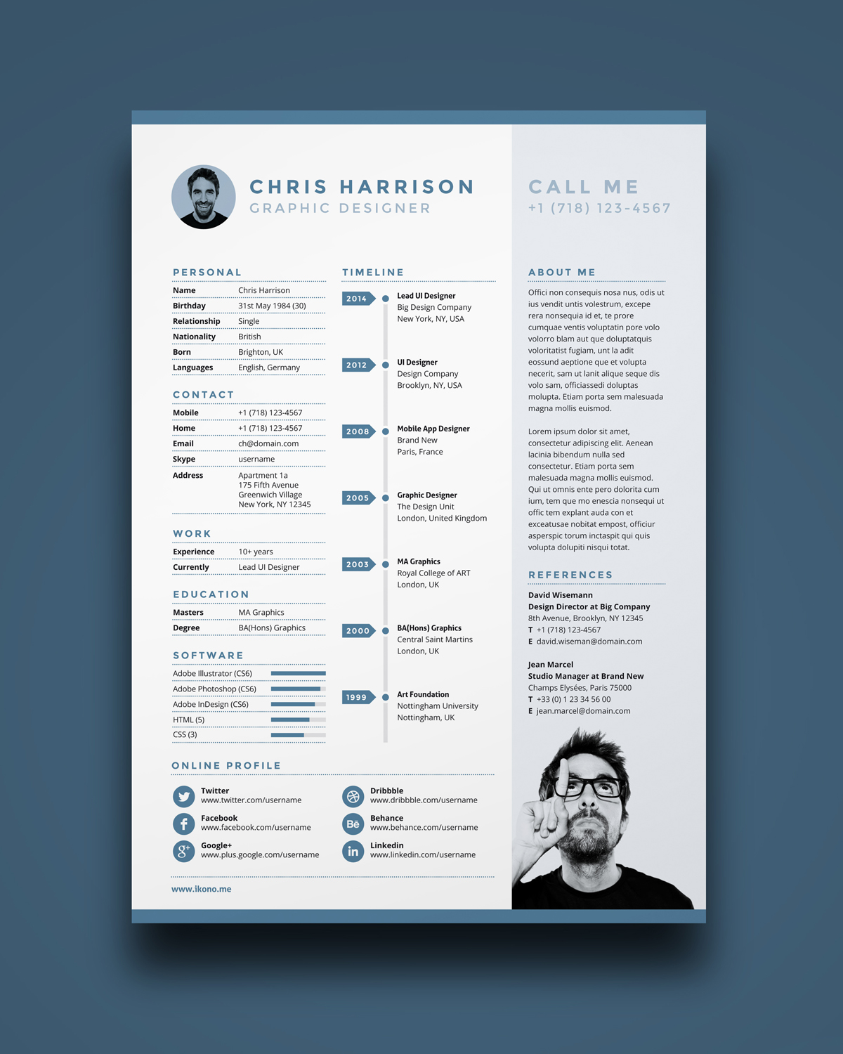 resume template me a4 resume design