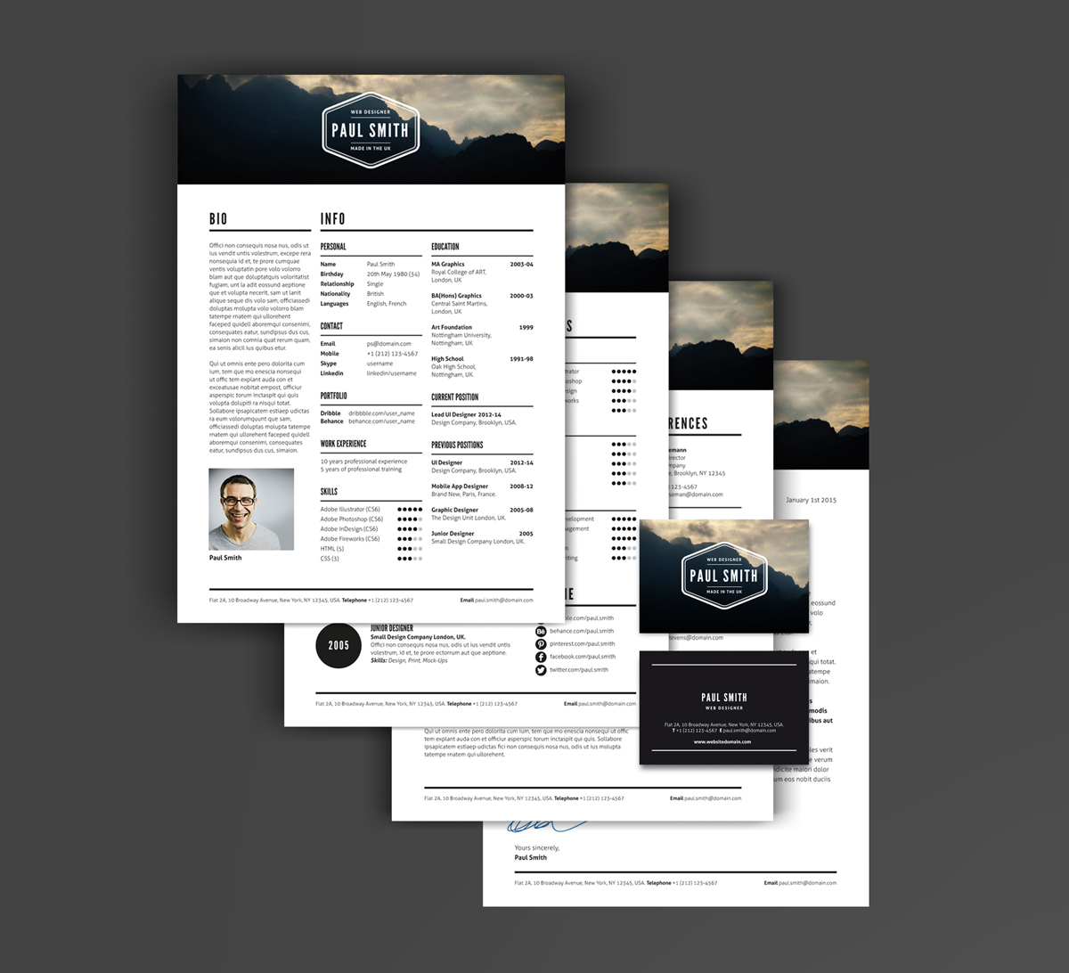 Poster design jobs uk - Job Resume Template Features Cover Letter And Three Resume Pages