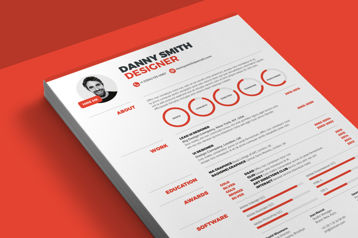 Resume templates that stand