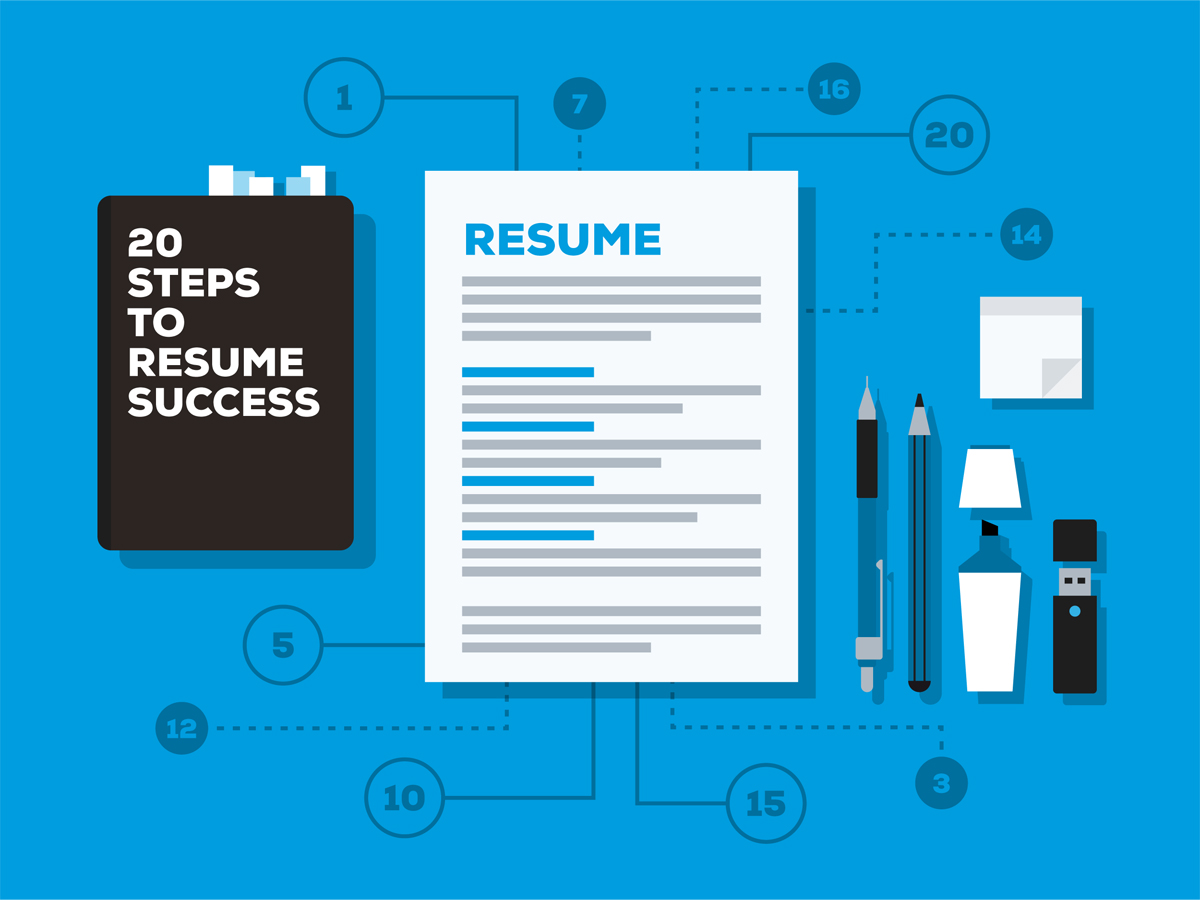 Resume illustration with 20 points