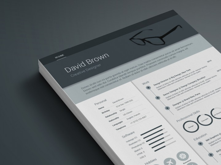 Free Material Resume template download