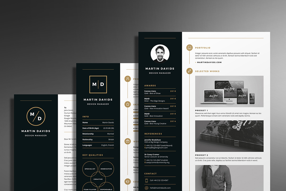 professional creative cv resume template
