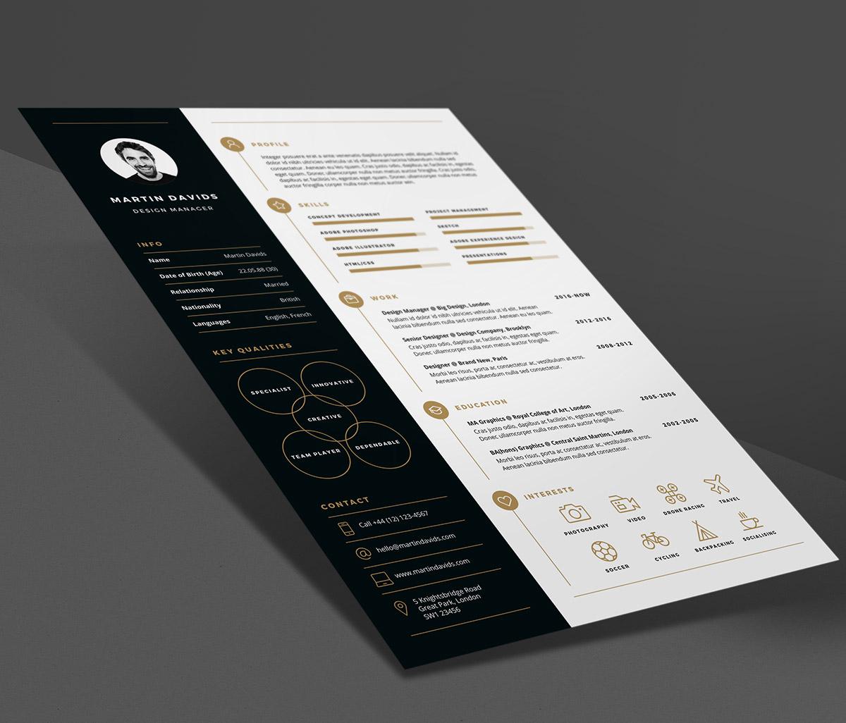 professional creative cv resume template