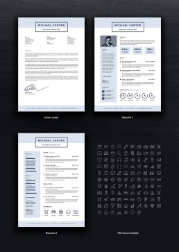 Pro Resume 1 Template Set