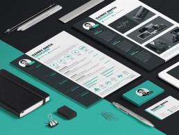 Desktop Resume 3 design
