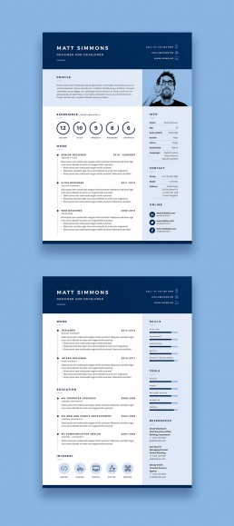Pro Resume 2 - Two Page Creative Resume Template